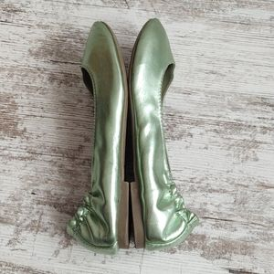SO Shoes - 💚SO Metallic Mint Green Ballet Flats